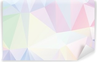 Pastel Polygon Geometric Washable Wall Mural