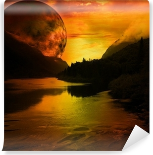 paysage fantastique Washable Wall Mural