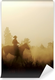 Peaceful Cowboy Washable Wall Mural