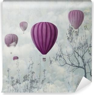Pink Balloons Washable Wall Mural