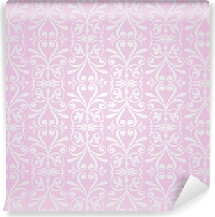 Pink Silver Vintage Wallpaper Background Design Poster