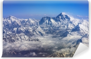 Plane view of Mount Everest and Lhotse Washable Wall Mural