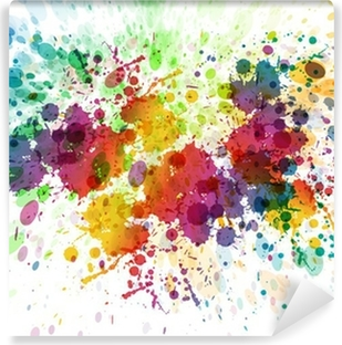 raster version of Abstract colorful splash background Washable Wall Mural