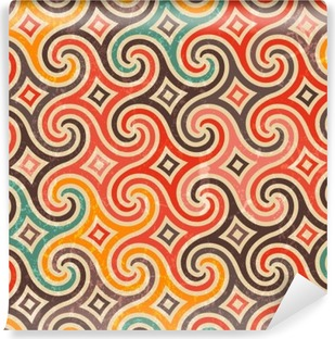 Retro pattern with swirls. Washable Wall Mural