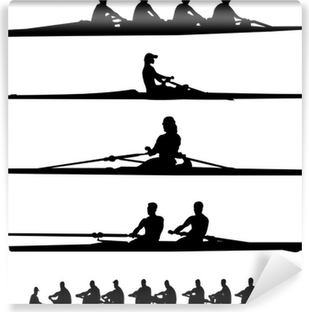 rowing collection - vector Washable Wall Mural