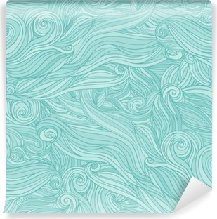 Seamless abstract pattern, tangle wavy hair background Washable Wall Mural