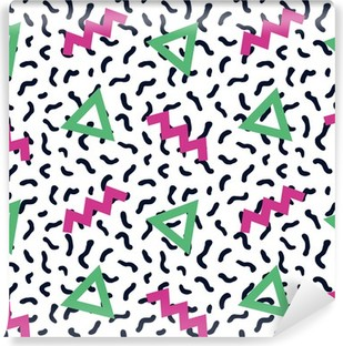 seamless background 80s Washable Wall Mural