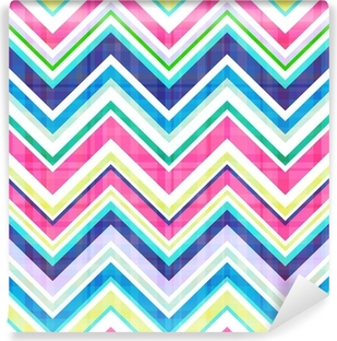 seamless chevron pattern Washable Wall Mural