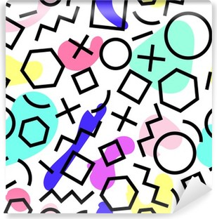 Seamless pattern with colorful spots Washable Wall Mural