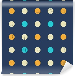 Seamless Polka Dot Pattern Washable Wall Mural