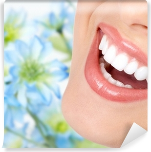 Smile and healthy teeth. Washable Wall Mural