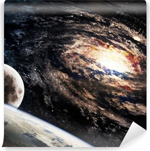 Spiral galaxy somewhere in deep space Washable Wall Mural