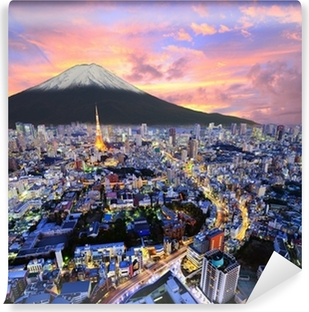 Tokyo and Fuji Washable Wall Mural