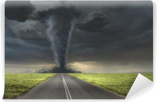 Tornado on road Washable Wall Mural