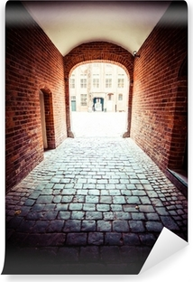 Traditional architecture in famous polish city, Torun, Poland. Washable Wall Mural