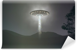 ufo abduction Washable Wall Mural