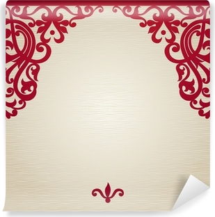 Vector seamless border in Victorian style. Washable Wall Mural