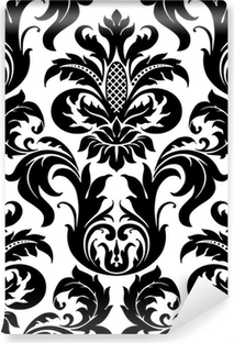 Vector seamless floral damask pattern Washable Wall Mural