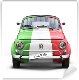 Voiture Italienne sur Fond Blanc Washable Wall Mural