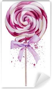 watercolor sweet Lollipop Washable Wall Mural