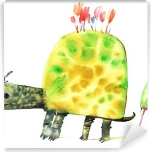 watercolor turtle Washable Wall Mural