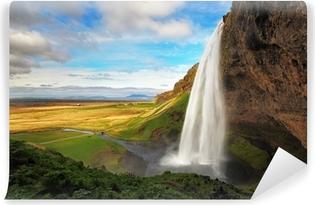 Waterfall in Iceland - Seljalandsfoss Washable Wall Mural