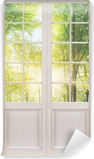 White door - Forest Washable Wall Mural