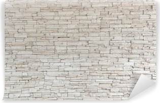 White Stone Tile Texture Brick Wall Washable Wall Mural
