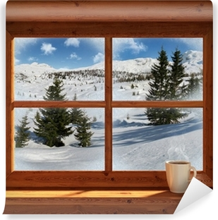 Winter landscape Washable Wall Mural