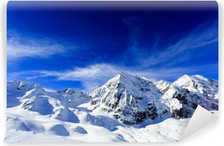 Winter mountains - snow-capped peaks of the Alps Washable Wall Mural