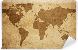 World map texture background Washable Wall Mural