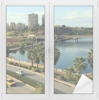 A view of Adana, Turkey Window & Glass Sticker