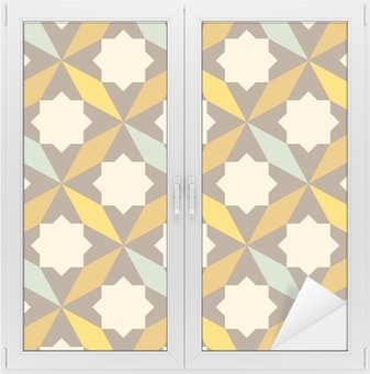 abstract retro geometric pattern Window & Glass Sticker