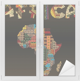 Africa map with african typography made of patchwork fabric text africa map with african typography made of patchwork fabric text wall mural pixers we live to change gumiabroncs Gallery