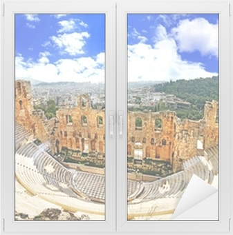 ancient theater in Acropolis Greece, Athnes Window & Glass Sticker