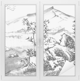 Chinese Landscape Watercolor Painting Canvas Print Pixers We