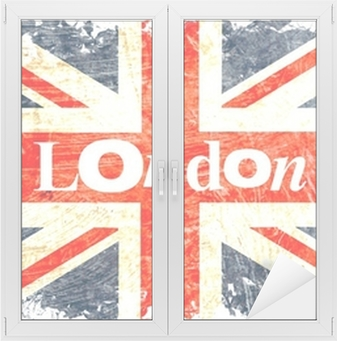 drapeau anglais decoupe london Window & Glass Sticker