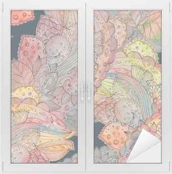 fashion seamless texture with abstract floral pattern. watercolo Window & Glass Sticker