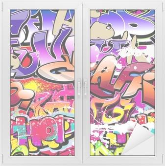 Graffiti seamless background. Hip-hop urban art Window & Glass Sticker