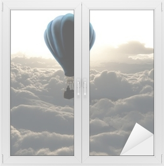 Hot air balloon in the sky Window & Glass Sticker
