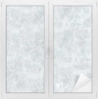 Ice cover seamless texture. Window & Glass Sticker