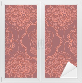 Indian seamless pattern with ornament Window & Glass Sticker
