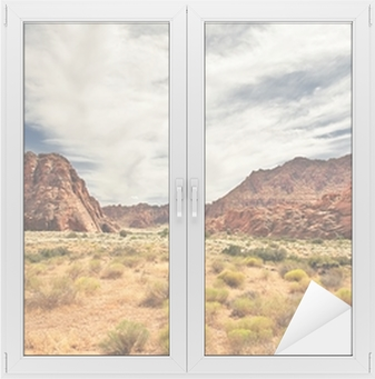 Red Canyon at Snow Canyon, Utah Window & Glass Sticker