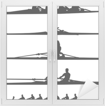 rowing collection - vector Window & Glass Sticker