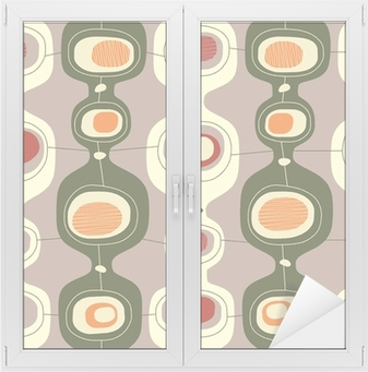 Seamless vintage pattern - Vector. Window & Glass Sticker
