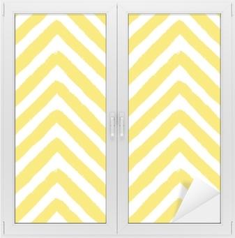 Vector Chevron Yellow Seamless Pattern Window & Glass Sticker