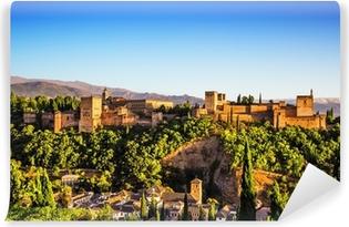 Yıkanabilir Duvar Resmi Alhambra, Granada, İspanya Antik Arapça kale.