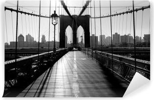 Yıkanabilir Duvar Resmi Brooklyn Köprüsü, Manhattan, New York, ABD