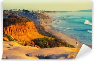 Yıkanabilir Duvar Resmi California'daki encinitas plajı