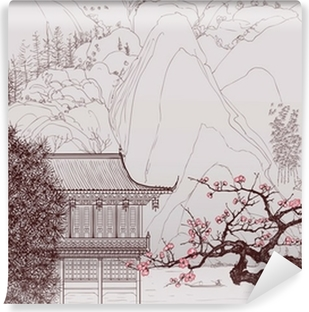 Yıkanabilir Duvar Resmi Çin peyzaj